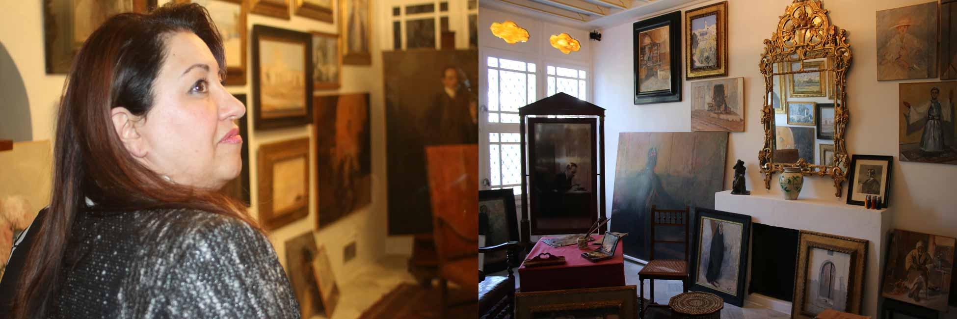 Inauguration de l'atelier de peinture du baron d'Erlanger
